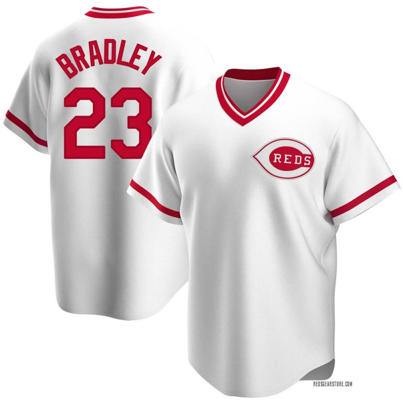 Men's Archie Bradley Cincinnati Reds Replica White Home Cooperstown Collection Jersey