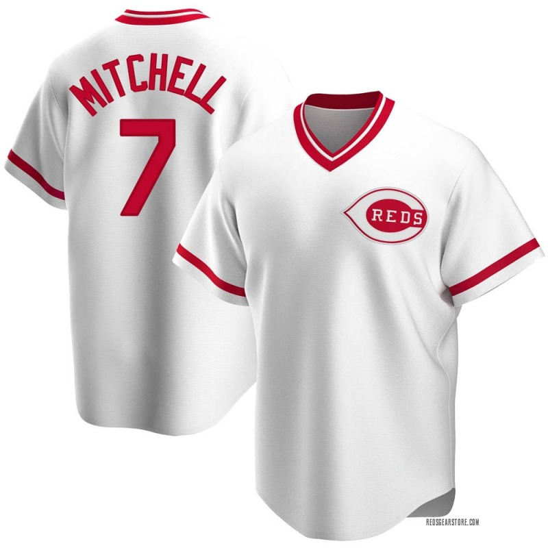 Youth Kevin Mitchell Cincinnati Reds Replica White Home Cooperstown Collection Jersey